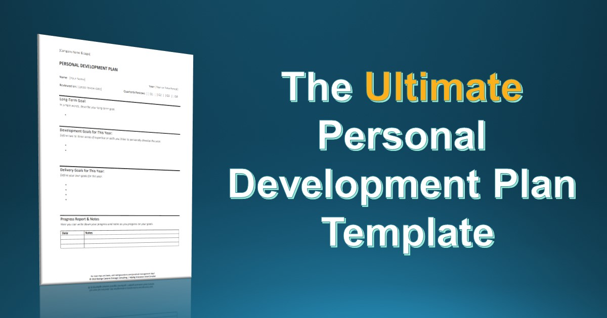 The Simplest Personal Development Plan Template You Will Ever Find ...